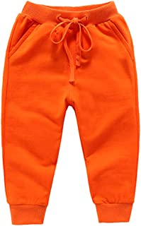 Welity Boy's & Girl's Cotton Jogger Pants 18 Months-10 Years