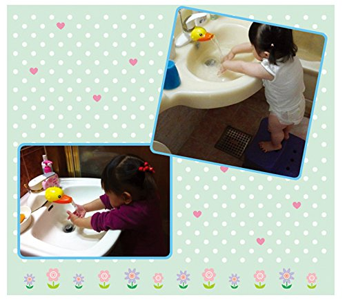 Kids Faucet Handle Extender Sink Extender for Toddler, Baby, Children Safe and Fun Hand-Washing Solution,Cartoon Faucet Extender - Make Your Kids Love Hand Washing - Bathroom Accessory (Duck Style)