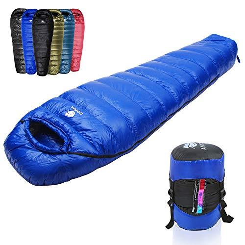 Anyoo Camping Sac de Couchage en Duvet d'oie Portable idéal pour la randonnée...
