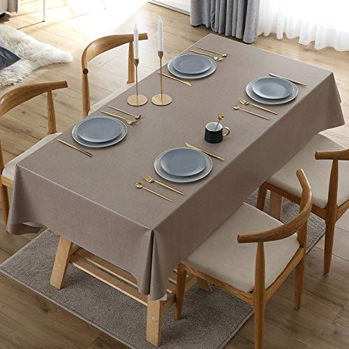 sans_marque Paño de mesa, paño de mesa de color sólido paño de mesa, a prueba de polvo y a prueba de encogimiento, utilizado para la decoración de mesa de picnic de la cocina 120* 180cm