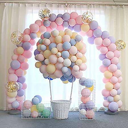 100pcs 10 Inch Macaron pastel Color Latex Balloon for Birthday Party Decoration Baby Shower Supplies Wedding Ceremony Balloon Arch Balloon Tower