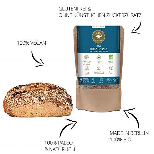 Paleo Brotbackmischung mit Chia (250g) von eat Performance (Bio, Superfood, Brot ohne Zucker und Getreide, glutenfrei, laktosefrei, low carb, eiweißbrot) - 6