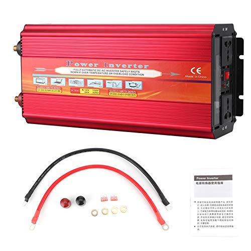Convertidor de corriente para automóvil Inversor de onda sinusoidal modificada LCD de 9000 W con doble ventilador universal de doble enchufe(L)