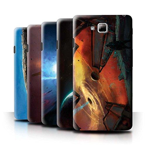 Oficial Chris Cold Carcasa/Funda/Case dura para el LG Optimus L9 II/D605 / serie: Mundo Galáctico - 6pcs Paquete