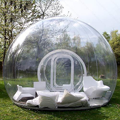 HXML Aufblasbare transparentes Luftblasen-Zelt mit Tunnel für Outdoor-Camping-Tarvel Leicht bewölkt Kuppelzelt