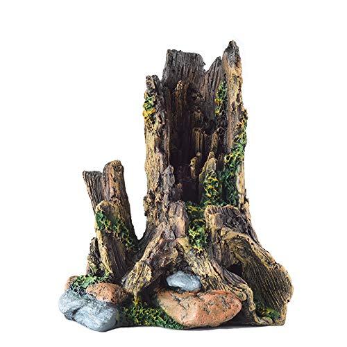 爬虫類アクアリウム樹脂流木 ウェットシェルター テラリウム登り木 あく抜き済み 枝
