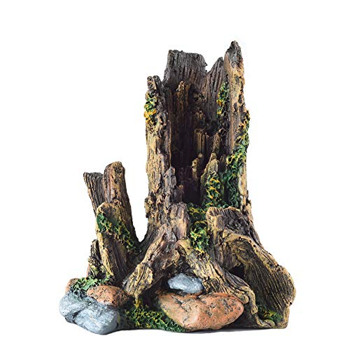 OMEM - Caja de Cultivo para Reptiles, Refugio, decoración, árbol de Resina, humidificación, Cueva de escondite, Adorno de terrario, Cuevas de escondite