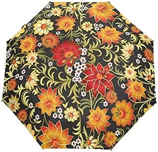 BEESCLOVER Women Flower Umbrella Anti UV Sun Umbrella Purple Ladies Backpack Full Automatic Umbrella 100% Polyester Waterproof Item 10 One Size