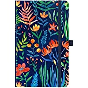 """2020 Planner - Weekly & Monthly Planner with Tabs, 5.25"""" x 8.25"""", Hardcover with Pen Holder + Thick Paper, Back Pocket with Gift Box - Navy Floral"""