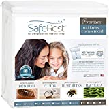 SafeRest Premium Lab Certified Bed Bug Proof Zippered Mattress Encasement - Waterproof - Hypoallergenic, Breathable, Noiseless and Vinyl Free (Fits 12-15 in. H) - Cal King Size