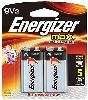 Energizer 9V Alkaline Batteries, Max 9 Volt (2 Count) (Pack of 8)