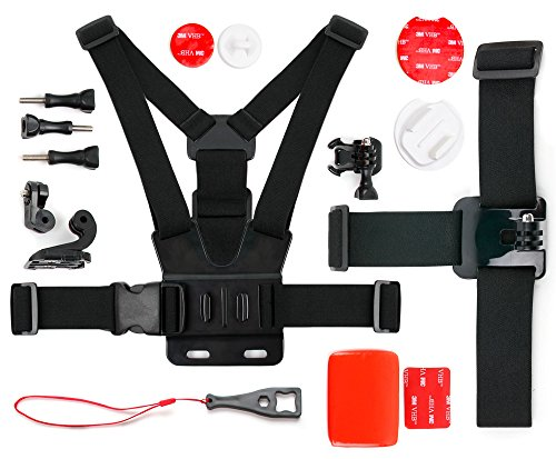 DURAGADGET Action Camera 17-in-1 Extreme Sports Accessories Bundle - Compatible with The MGCOOL Explorer Pro Action Camera 4K