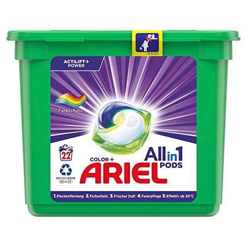 Ariel All-in-1 PODS Waschmittel Color-Farbschutz – 22Waschladungen