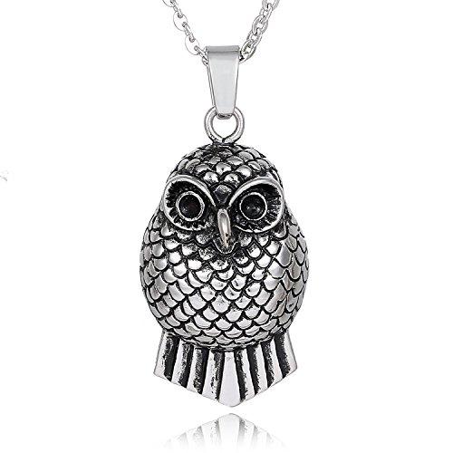 Morella–Collana da Donna in Acciaio Inox 50o 70cm con ciondolo e fogliame in un sacchetto di velluto, acciaio inossidabile, colore: argento, cod. N03-11-NOS70