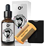 O³ Huile Barbe Homme 100% Naturelle - Huile De Ricin Barbe - Accélère la Pousse,...