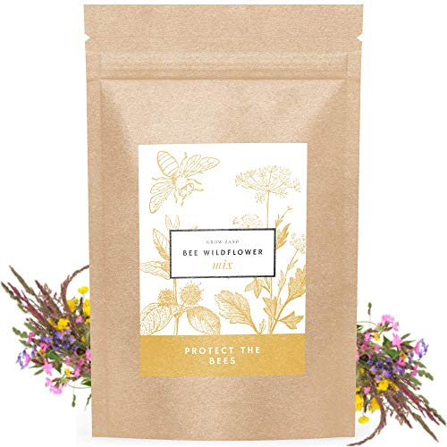 Honey Bee Wildflower Pollinator Mix - 65,000+ Seeds Perennial & Annual Flowers - Planting Outdoors...