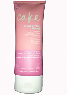 Cake Beauty Desserted Island Coco Supreme Body Mousse! Raw Coconut, Tahitian Oil Elixir and Radiance Enhancing! 7 oz Body Lotion, Moisturize and Hydrate your Skin! Limited Edition Large Size!