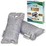 Tanness 2 Pack purificador de Aire, Bolsa purificadora de Aire de bambú, Absorbe olores, Todo Natural y Libre de químicos ambientador para Nevera, Coche, Zapatos y baños, 4 * 100 g
