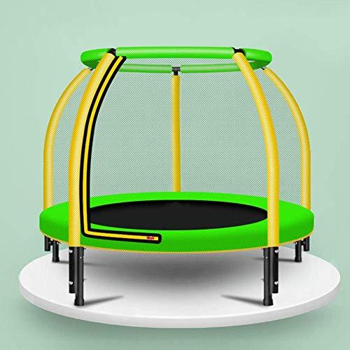 Amiiaz 48 Pulgadas Trampolín para niños Ejercicio con Caja de Seguridad Reboteador Interior o Exterior Trampolín Juguetes de Entretenimiento para Padres e Hijos Carga 200 kg- Verde