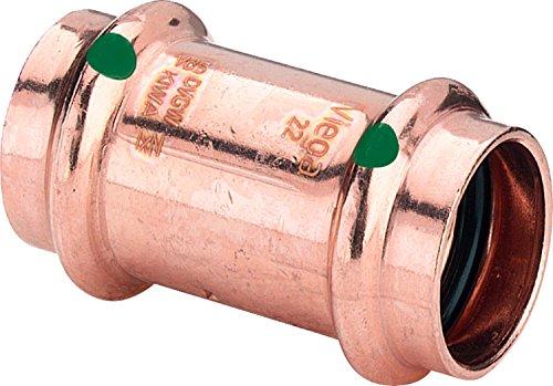 Viega ProfiPress Doppelmuffe gerade, 15mm, Type 2415, beidseitig mit Pressanschluss, 5 Stück
