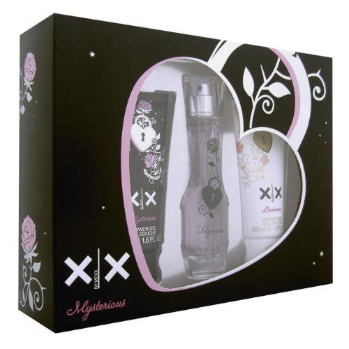 Mexx XX Woman Geschenkset Mysterious EDT 20ml spray, Mysterious S/gel 50ml und Lovesome S/gel 50ml