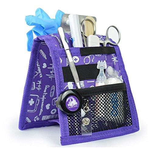 Salvabolsillos, Keen\'s, Mobiclinic, Para bata o pijama, Diseño exclusivo con estampados en color morado, Amo la enfermería