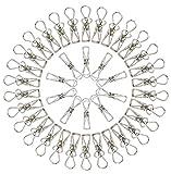 BELLE VOUS Pinzas para Tender la Ropa(80 Piezas) - 5cm x 1cm, Acero Inoxidable, Pinzas para Secar Ropas, Frazadas, Toallas, Calcetines