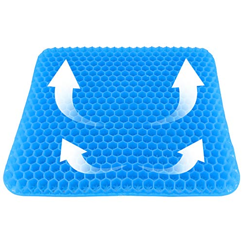 Cyanbamboo Gel Seat Cushion,Egg Sitter Cushion Comfortable and Breathable Honeycomb Design with Non-Slip Cover for Office Chairs Home Car Wheelchair...