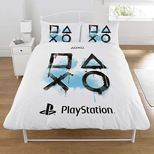 Sony Playstation Duvet Set, POLYCOTTON, White, DOUBLE
