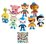 Set of 8 pcs Octonauts Toys Cake Topper Play Set 2' - 3' with 40pcs Waterproof Stickers