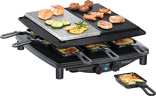 Steba RC 4 Plus Gourmet Raclette, Made in Germany, für 8 Personen, 1450 Watt