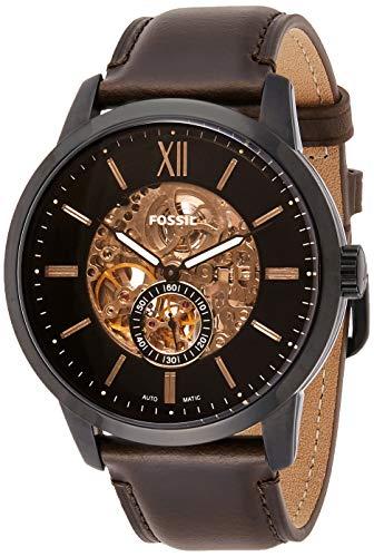 Fossil Reloj Esqueleto para Hombre de Automático con Correa en Cuero ME3155
