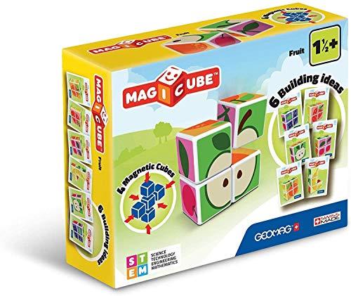 Geomag- Magicube Juguete de construcción, Multicolor, 4 Piezas (131) , color/modelo surtido