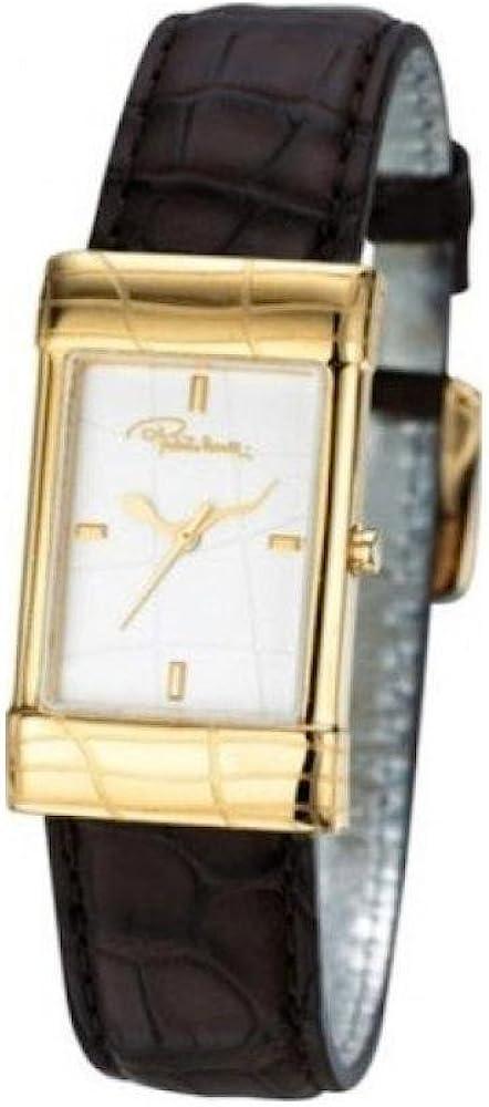 Roberto cavalli,orologio da donna,cassa in acciaio placcato oro e cinturino in pelle 7251117017