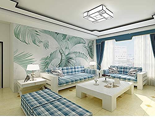 XHXI Papel pintado moderno de la planta 3D DIY Art Mural Dormitorio Sala de estar Estudio TV Fondo Calcomanía Pared Pintado Papel tapiz Decoración dormitorio Fotomural sala sofá mural-300cm×210cm
