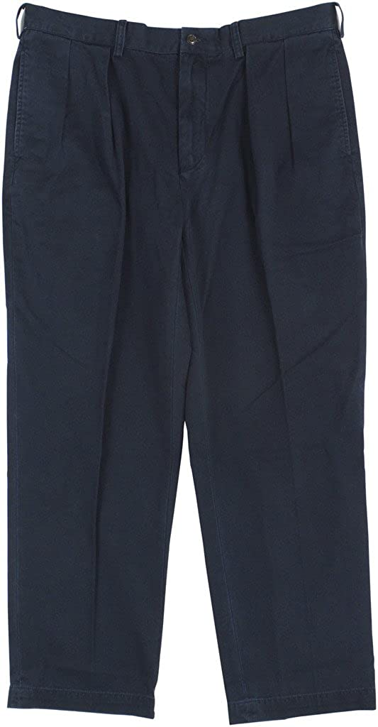 Men's Classic Pleated Fit Chino Pants-AN-30Wx30L