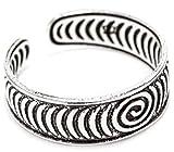 WINDALF Schmaler Vintage Zehenring CARIZA 0.5 cm Lebens Kreisel Midi Ring Bohemia Indie Fußring Sommerschmuck Festivalschmuck 925 Sterlingsilber