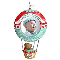 baby's first christmas ornament balloon
