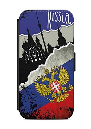 Kompatibel mit Samsung Galaxy S8 Flipcase Handytasche Hülle mit Magnetverschluss auffklappbar Russland Fahne Flagge