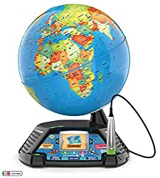 EDUCATIONAL LEARNING: Go beyond countries and their capitals with this enhanced kids globe that explores cultures, animals, habitats and more through 5+ hours of BBC videos INTERACTIVE TOY: Tap anywhere using the stylus to hear thousands of facts, in...