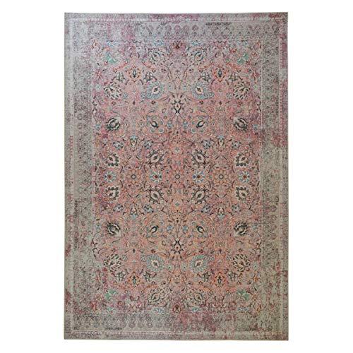tappeto salotto classico WEBTAPPETI.IT Tappeto Disegno per Salotto o Soggiorno Motivo Classico Rosa SAROUK Pink Cm.80x150