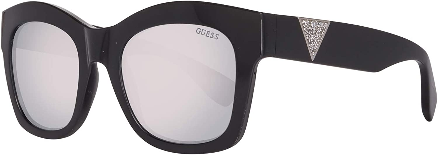 Guess Triangle Logo Geometric Sunglasses in Shiny Black GU7454 01C 51 51 Gradient Grey