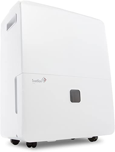 new arrival Ivation 6,000 Sq Ft Energy Star Dehumidifier sale with Pump high quality - Large Capacity Compressor for Spaces Up To 4,500 Sq Ft, Includes Programmable Humidity, Hose Connector, Auto Shutoff / Restart outlet online sale