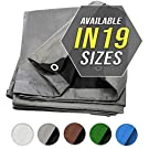 Tarp Cover Silver/Black 20X30 Heavy Duty Thick Material, Waterproof, Great for Tarpaulin Canopy Tent, Boat, RV or Pool Cover!