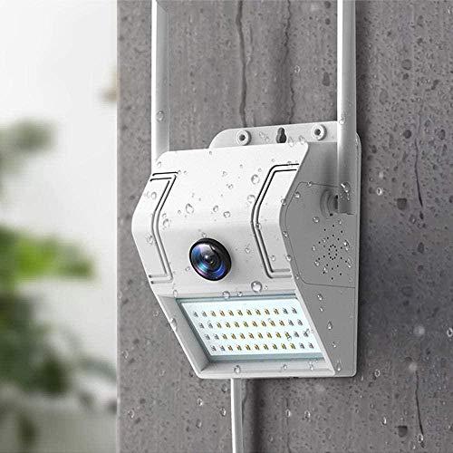 Cámara de vigilancia para el hogar al aire libre Cámara de visión nocturna 1080P 2.4G Wifi con sensor de movimiento LED Cámara de luz de pared Cámara inalámbrica con enchufe Card_au 64G-Cam only51