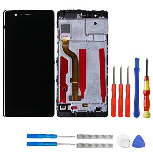 Pantalla LCD de Swark compatible con Huawei P9 Standard EVA-L09 EVA-L19 EVA-L29, pantalla táctil, digitalizador de cristal + marco + herramientas (negro)