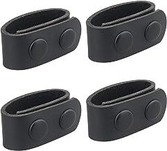 xiaowang 4 Packs Dubbele Snap Belt Keepers, Lederen Duty Keeper, voor Outdoor Mountaineering, Avontuur, Fietsen, Kwaliteit...