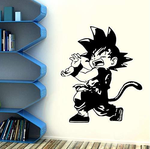 Cartoon Goku Dragon Ball Z Vinyl muursticker Home Decor kinderkamer Japanse anime-spel karakters Art Decals muurschildering 42 * 49 cm
