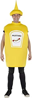 Dress Up America Yellow Mustard Bottle Costume for Kids and Adults - Product Comes Complete with: Tunic and hat (Adult)
