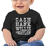 Cash Hank Willie Baby Short Sleeve T-Shirt Toddler Cotton Shirt Black